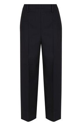 Укороченные шерстяные брюки со стрелками Christophe Lemaire темно-синие | Фото №1