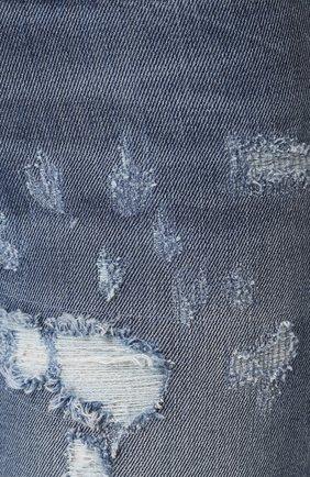 Джинсы-скинни с потертостями Dolce & Gabbana голубые   Фото №5