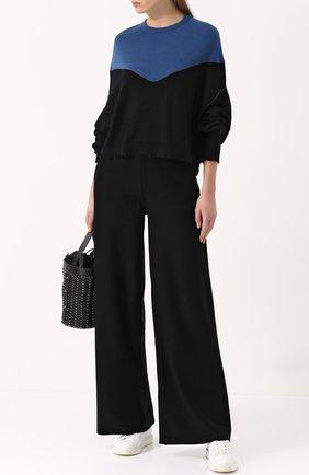 Однотонные хлопковые брюки Molli черные | Фото №1