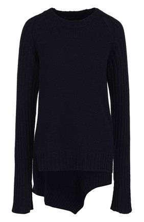 Шерстяной пуловер с круглым вырезом и удлиненной спинкой | Фото №1