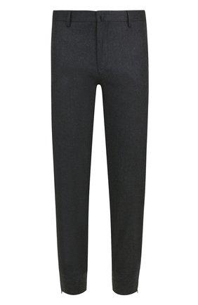 Шерстяные брюки прямого кроя