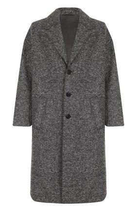 Однобортное шерстяное пальто свободного кроя