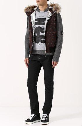 Шерстяной свитер с хлопковой вставкой | Фото №2