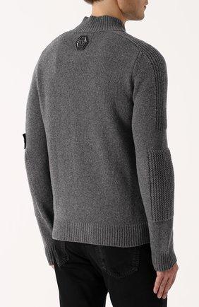 Шерстяной свитер с хлопковой вставкой | Фото №4