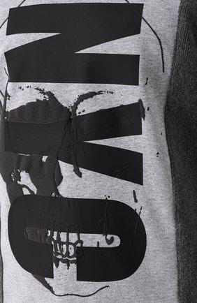 Шерстяной свитер с хлопковой вставкой | Фото №5