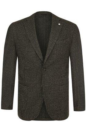 Однобортный пиджак из смеси шерсти и хлопка | Фото №1
