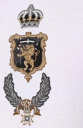 Хлопковая футболка с аппликацией Dolce & Gabbana белая   Фото №5