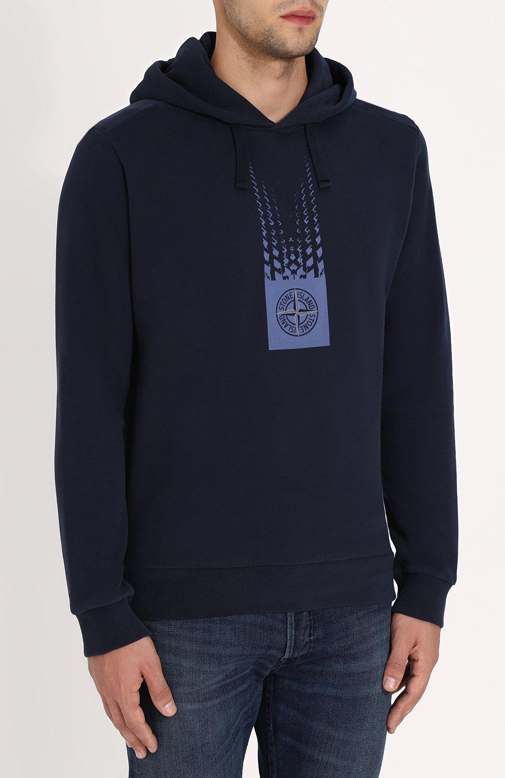 Хлопковое худи с логотипом бренда   Фото №3