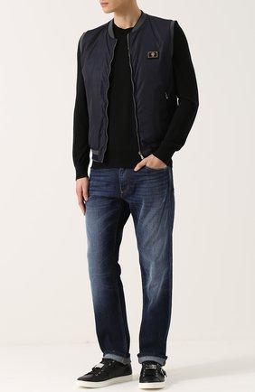 Кашемировый джемпер тонкой вязки Dolce & Gabbana черный | Фото №2
