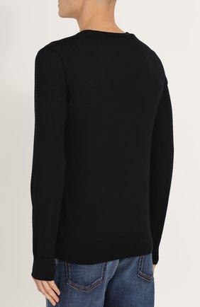 Кашемировый джемпер тонкой вязки Dolce & Gabbana черный | Фото №4