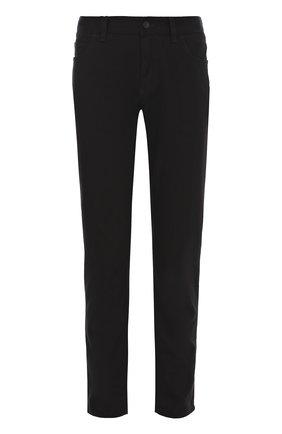 Хлопковые брюки прямого кроя Dolce & Gabbana черные | Фото №1