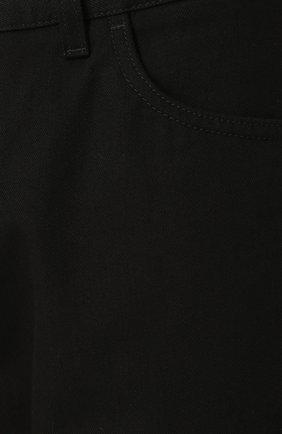 Хлопковые брюки прямого кроя Dolce & Gabbana черные | Фото №5