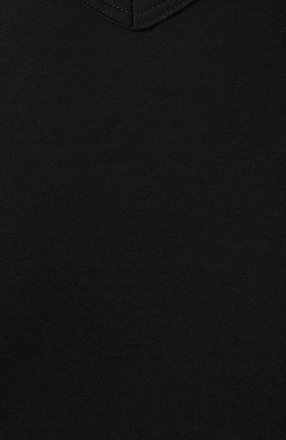 Хлопковая футболка с V-образным вырезом | Фото №5