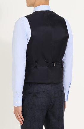 Шерстяной костюм-тройка в клетку с пиджаком на двух пуговицах   Фото №5