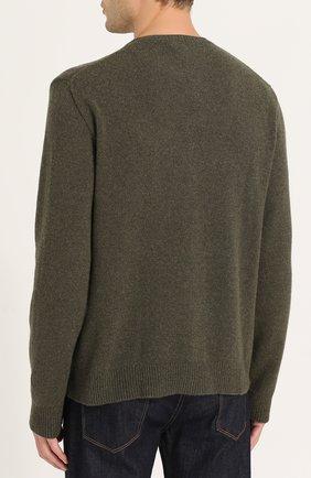 Джемпер из смеси кашемира и шерсти с принтом   Фото №4
