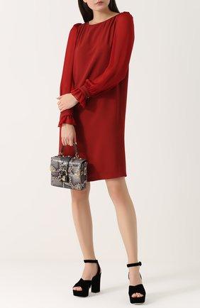 Сумка Dolce Soft из кожи питона Dolce & Gabbana серая цвета | Фото №2