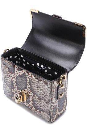 Сумка Dolce Soft из кожи питона Dolce & Gabbana серая цвета | Фото №4