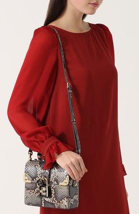 Сумка Dolce Soft из кожи питона Dolce & Gabbana серая цвета | Фото №5
