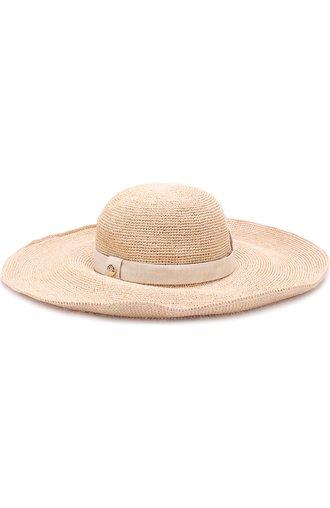 Пляжная шляпа из соломы с повязкой