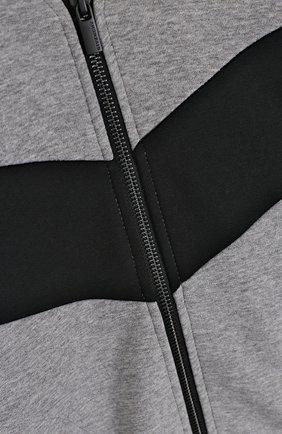 Спортивный кардиган с контрастной отделкой и капюшоном | Фото №3