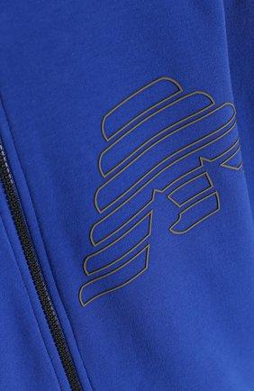 Спортивный кардиган из хлопка с логотипом бренда | Фото №3
