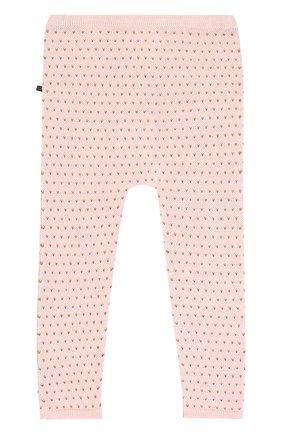 Детские леггинсы из шерсти с принтом Oeuf розового цвета | Фото №1