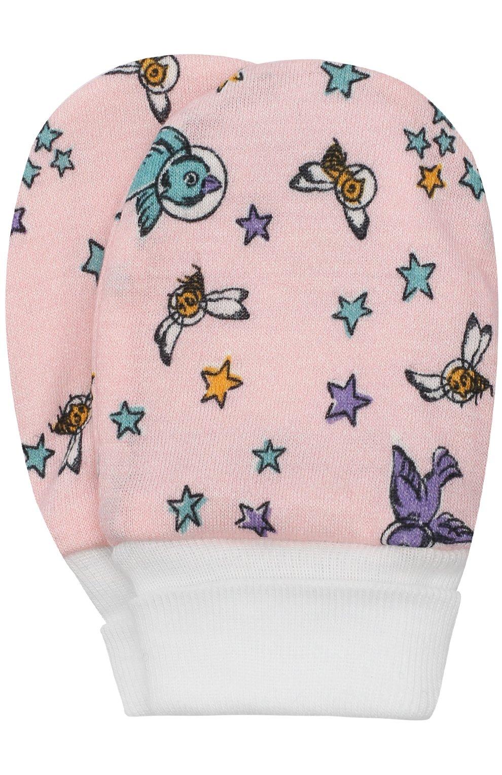 Детское хлопковый комплект из боди с шапочкой и пинеток с варежками GUCCI розового цвета, арт. 478413/X9A95 | Фото 3