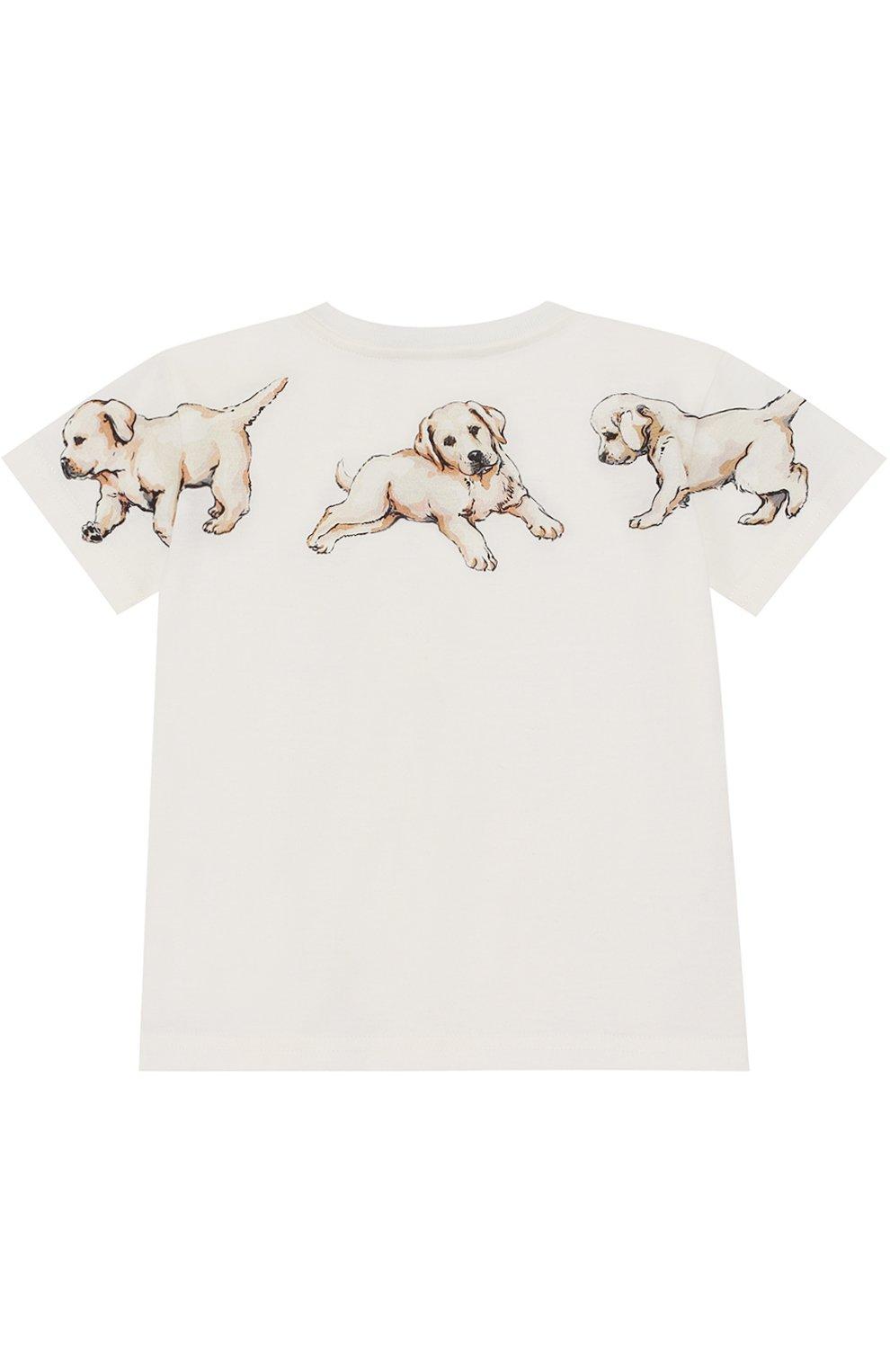 Хлопковая футболка с принтом Dolce & Gabbana белого цвета | Фото №2