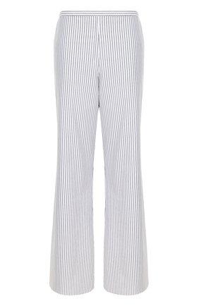 Расклешенные хлопковые брюки в полоску | Фото №1