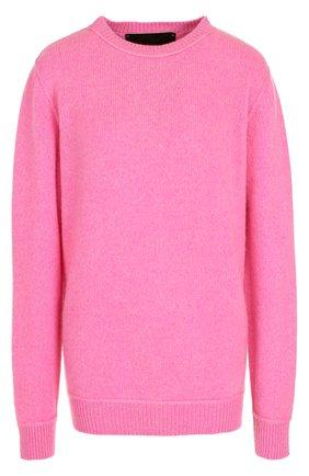 Однотонный кашемировый пуловер с круглым вырезом | Фото №1