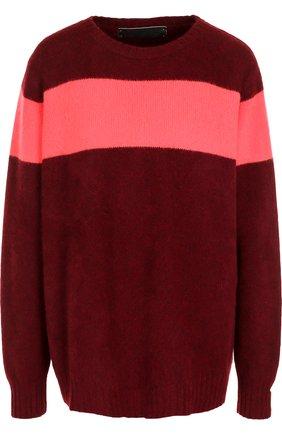 Кашемировый пуловер свободного кроя с круглым вырезом | Фото №1