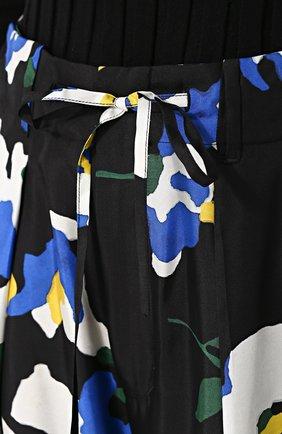 Шелковые брюки в пижамном стиле с цветочным принтом Études разноцветные | Фото №5