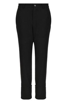 Однотонные шерстяные брюки с завышенной талией | Фото №1