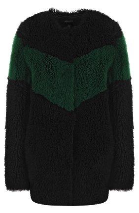 Шуба из овчины прямого кроя Anne Vest черная   Фото №1