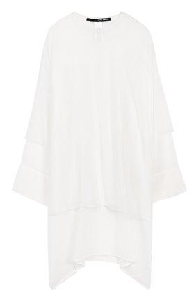 Платье-миди свободного кроя с длинным рукавом   Фото №1