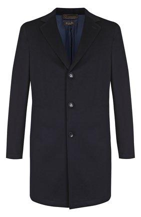 Однобортное пальто из шерсти викуньи