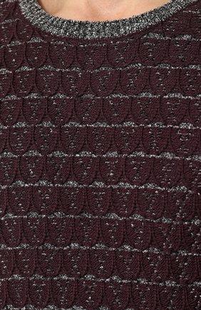 Джемпер фактурной вязки из смеси вискозы и шерсти | Фото №5