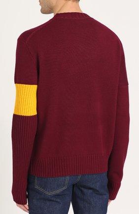 Кашемировый свитер с контрастной вставкой   Фото №4
