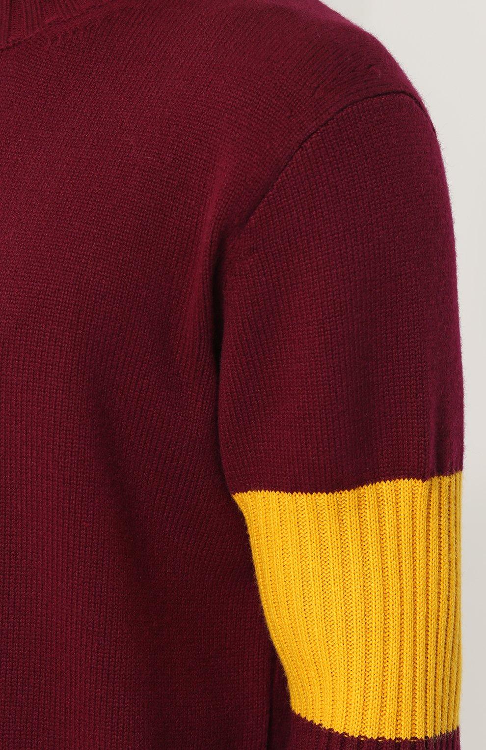 Кашемировый свитер с контрастной вставкой   Фото №5
