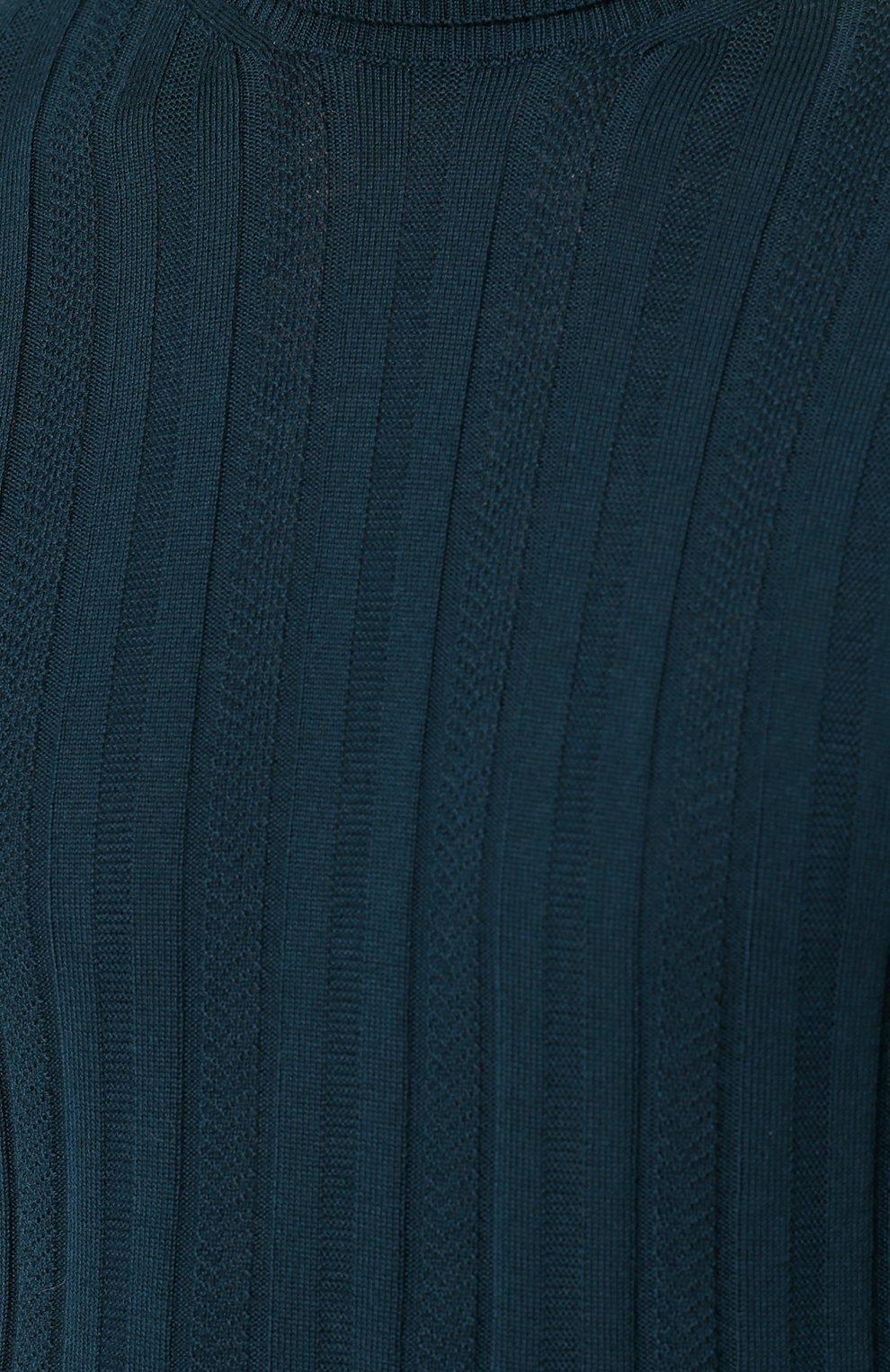 Шерстяная однотонная водолазка | Фото №5