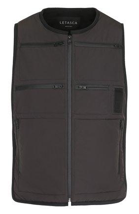 Жилет на молнии с карманами Letasca темно-серый | Фото №1