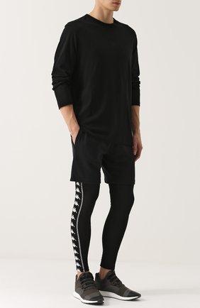 Облегающие брюки с принтом Faith Connexion черного цвета | Фото №1