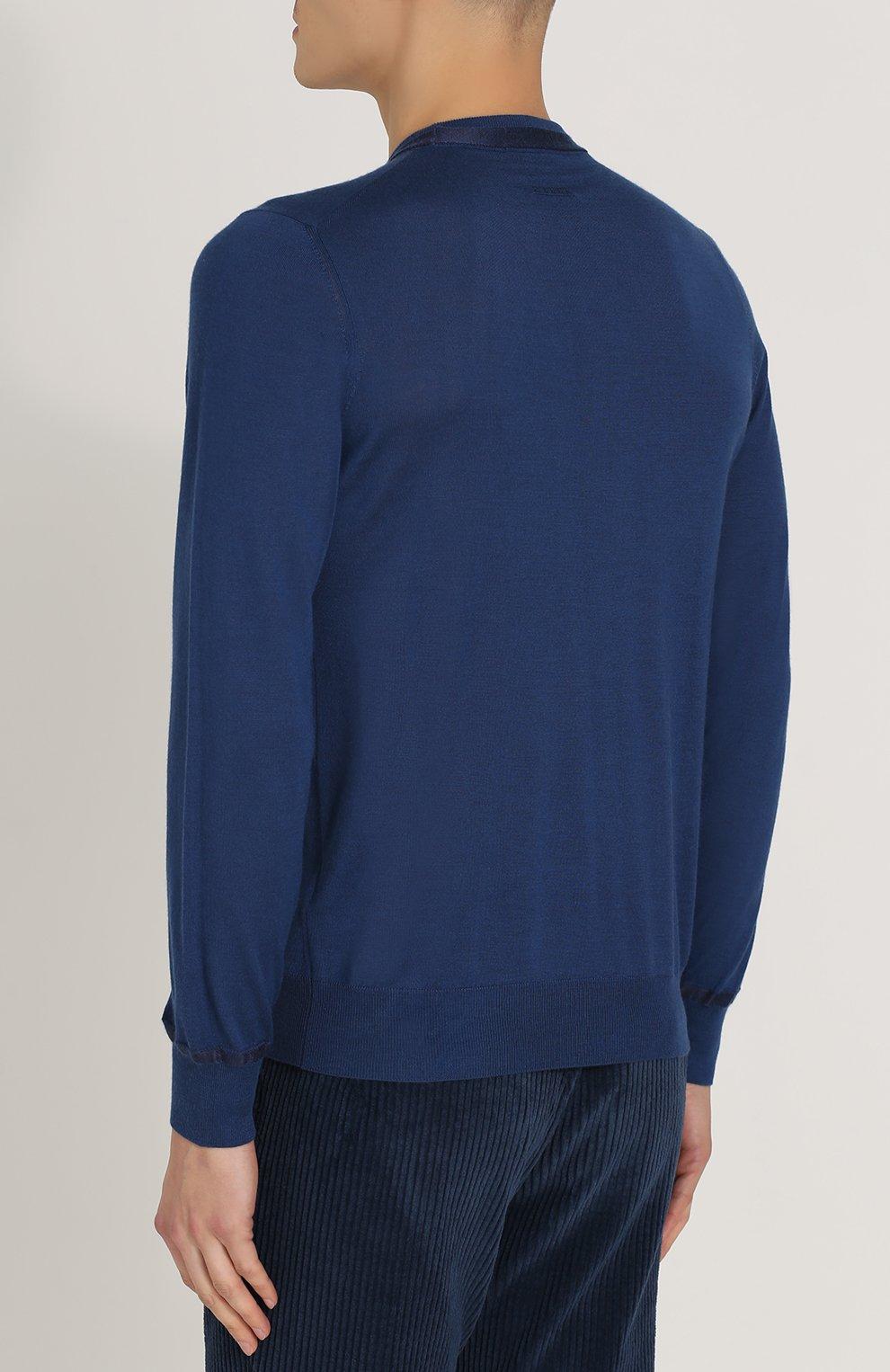 Джемпер тонкой вязки из смеси кашемира и шелка | Фото №4