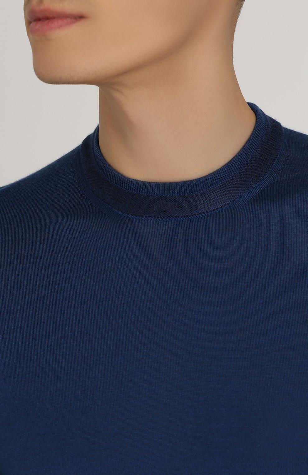 Джемпер тонкой вязки из смеси кашемира и шелка | Фото №5