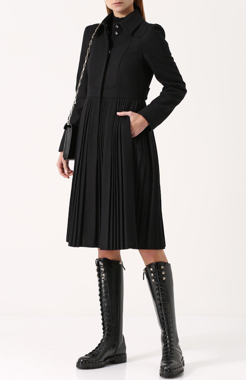 Женские черные кожаные сапоги valentino garavani soul rockstud на ... 50bcf39926b