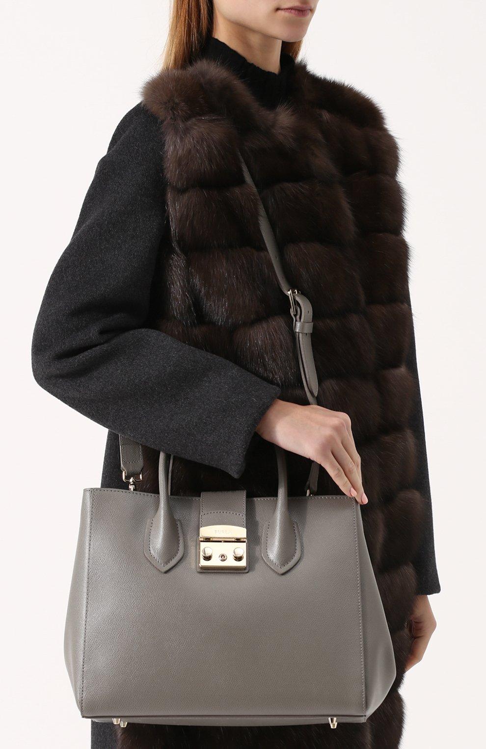 6aba74162b4a Женская сумка metropolis FURLA серого цвета — купить за 27500 руб. в ...