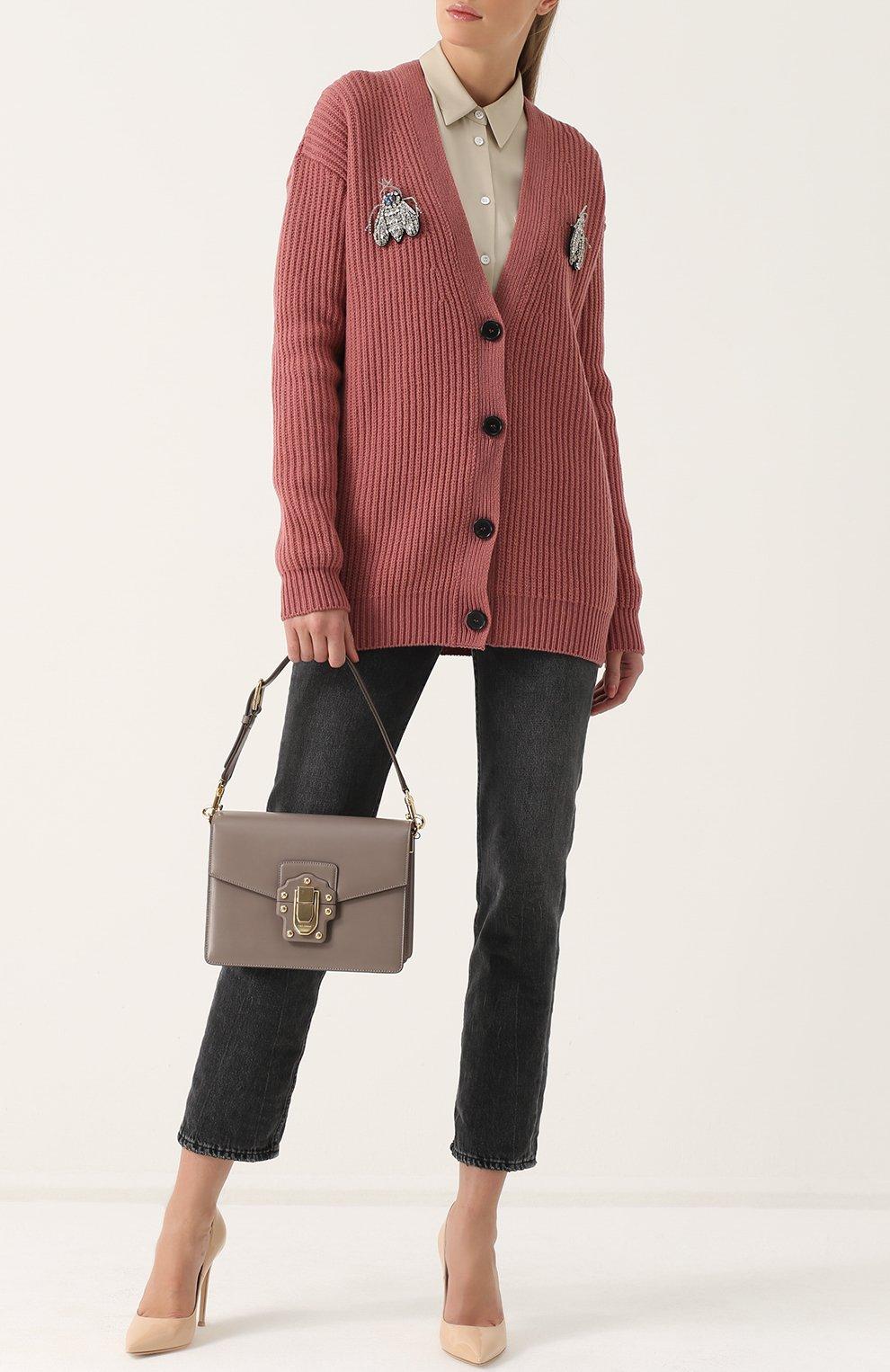 Сумка Lucia Dolce & Gabbana серая цвета | Фото №2