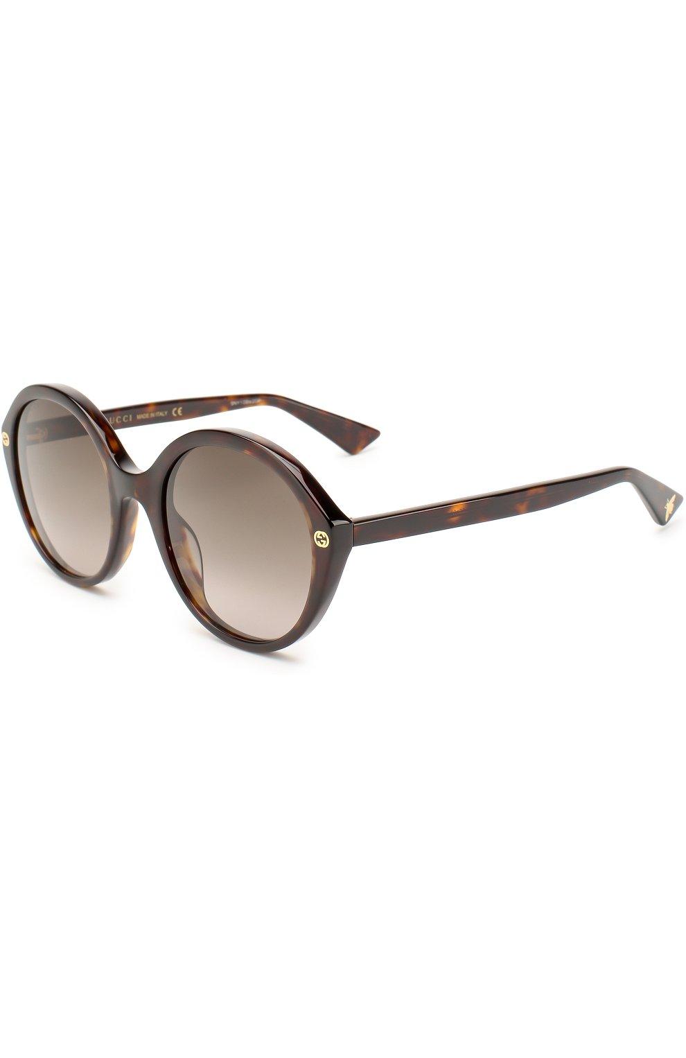 Женские солнцезащитные очки GUCCI коричневого цвета, арт. 0023 002 | Фото 1