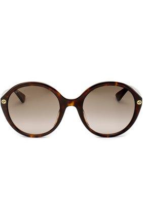 Женские солнцезащитные очки GUCCI коричневого цвета, арт. 0023 002 | Фото 3