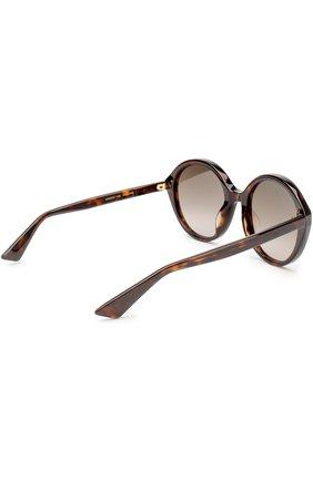 Женские солнцезащитные очки GUCCI коричневого цвета, арт. 0023 002 | Фото 4